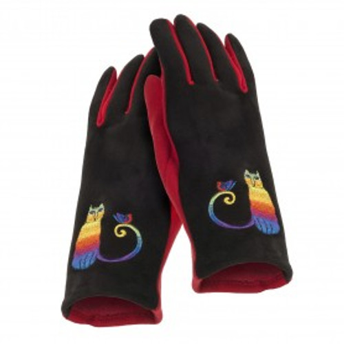 Laurel Burch - Rainbow Cat Embroidered Glove