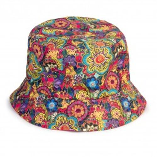 Laurel Burch - Felines Garden Reversible Bucket Hat