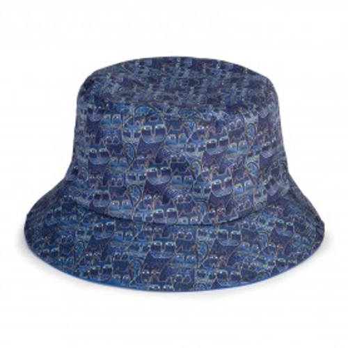 Laurel Burch - Indigo Cats Reversible Bucket Hat