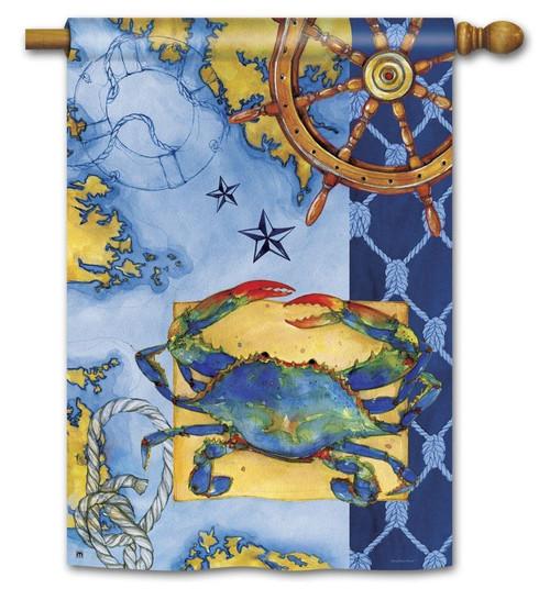 CRAB TRUE BLUE STANDARD FLAG