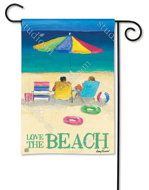 LOVE THE BEACH GARDEN FLAG