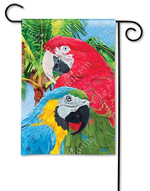 TROPICAL BEAUTIES GARDEN FLAG