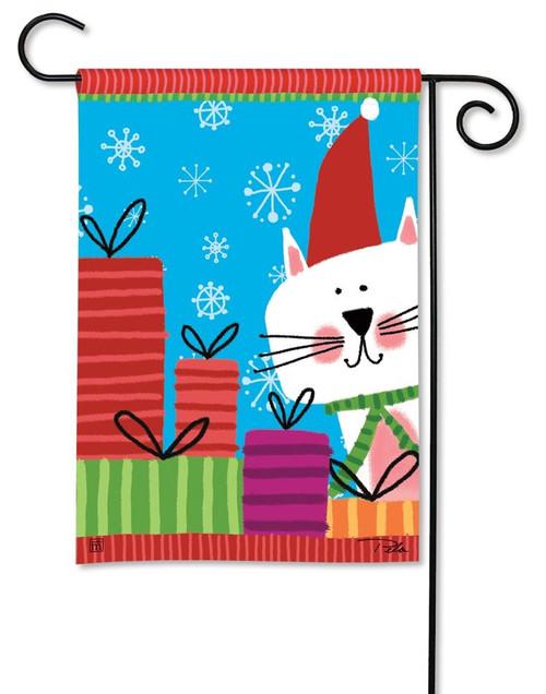MEOWY CHRISTMAS GARDEN FLAG
