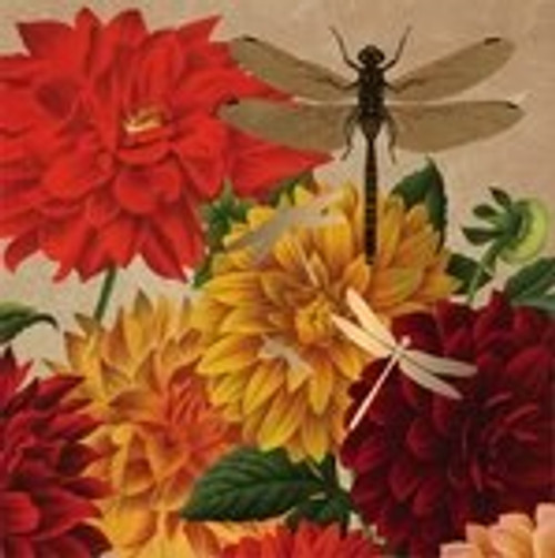 Metallic Dragonfly - Paper Luncheon Napkin - 20 count - 4NL6849