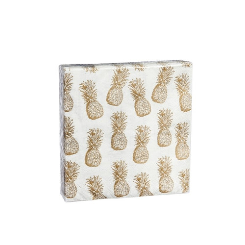 Pineapple Cocktail Napkin - 40ct 3 ply - Z4NC6677