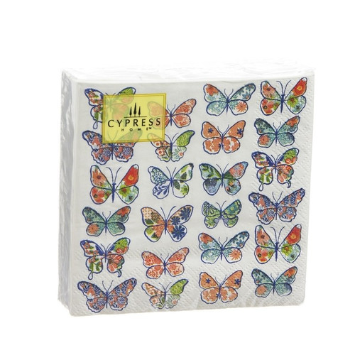 Butterfly Collection - 40ct. 3ply Cocktail Napkin - Z4NC6324