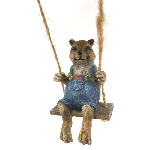 Swinging Squirrel - Garden Figurine - ZMR84AST01-C