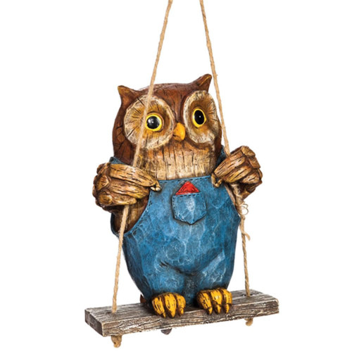 Swinging Owl Critter - With Rope and Metal Stake - ZMR84AST01-B