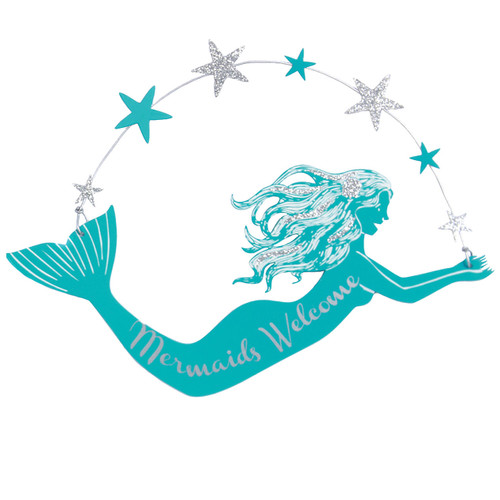 Mermaids Welcome Metal Sign - 25229W