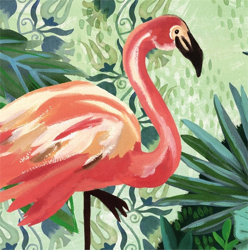 Flamingo Paper Cocktail Napkin 20 count 4NC7082