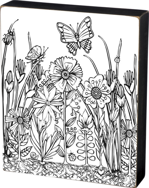 Garden Scene - Color a Sign Small