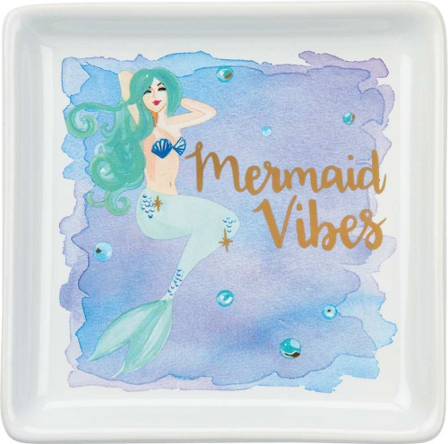 Colorful Mermaid Vibes Trinket Tray - 35111