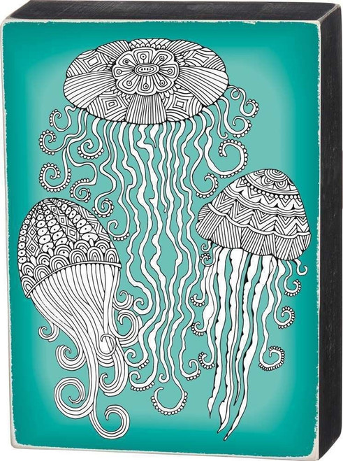 Jellyfish Colorable Decorative Wall Art - 33034