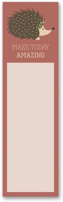 Hedgehog List Notepad - Encouragement Make Today Amazing 101161