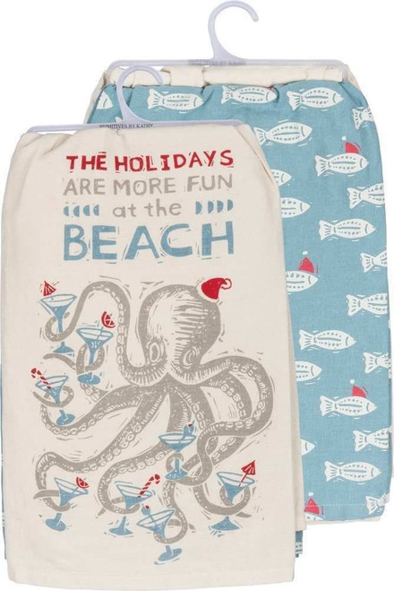 Colorful Holiday Dish Towel Set - Octopus - Martini - 36424