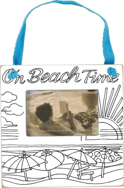 Mini Hanging Frame - Magnetic - On Beach Time - 34977