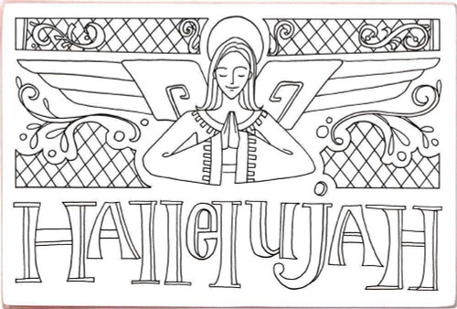 Wooden Postcard - Hallelujah - Angel - 33658