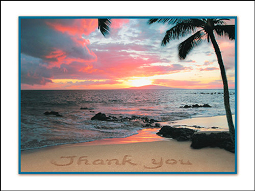 Sun Set Thank You Note Card - Individual Card - 20766