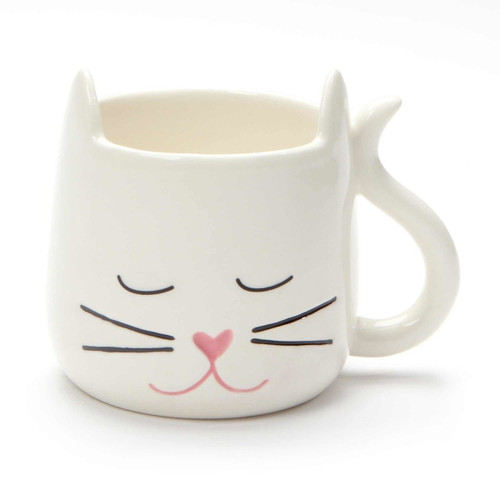 White Cat Mug - My Kids Have Whiskers - Front