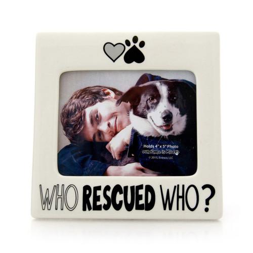 Who Rescued Who - Ceramic Photo Frame - 16oz - 4048785
