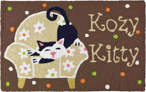 Kozy Kitty Sitting Cozy - 21 x 33 - Washable Floor Rug JB-VHT001