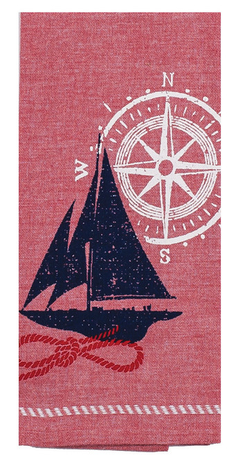 Nautique Sailboat Tea Towel R3058