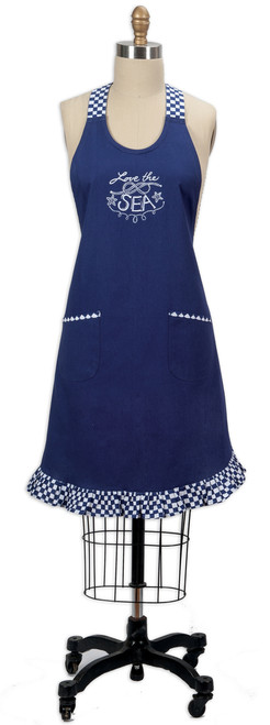 Open Seas Embroidered Apron R2801