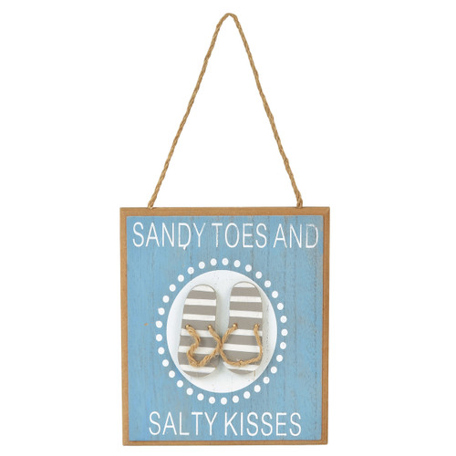 Sandy Toes Decor Salty Kisses - Wall Sign 6x5 - 6001908