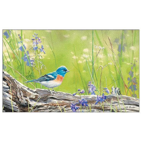 "Singing Blue Bird Welcome Mat 18"" x 30"" - 11272"