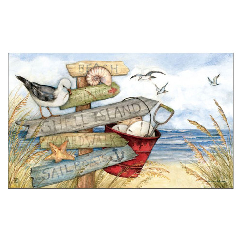 "Beach Signs Welcome Mat 18"" x 30"" - 11457"