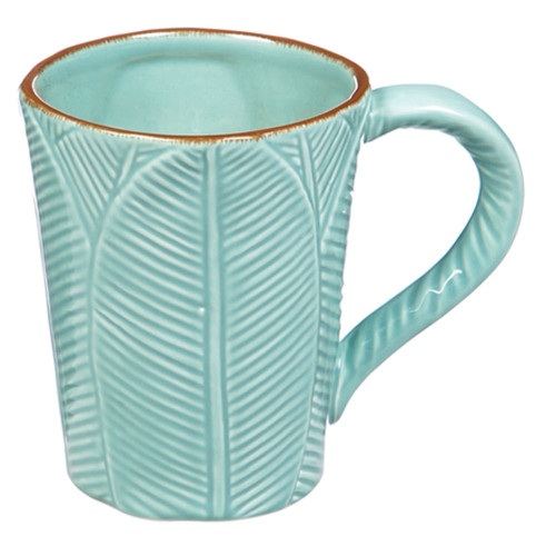 Ceramic Leaf Sculpted Mug - 12oz - 3AMH031