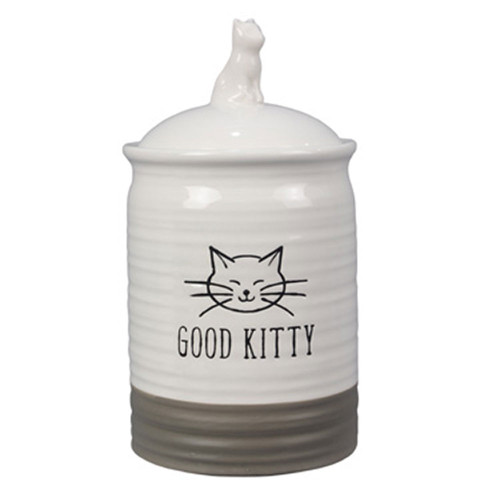 Good Kitty Ceramic Cat Treat Jar with Ceramic Lid 19247