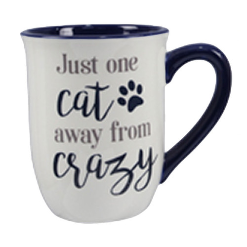 Cat Mug - Just one Cat away from Crazy - 18436A