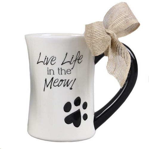Cat Live Life Meow Coffee Tea Mug - 15667M