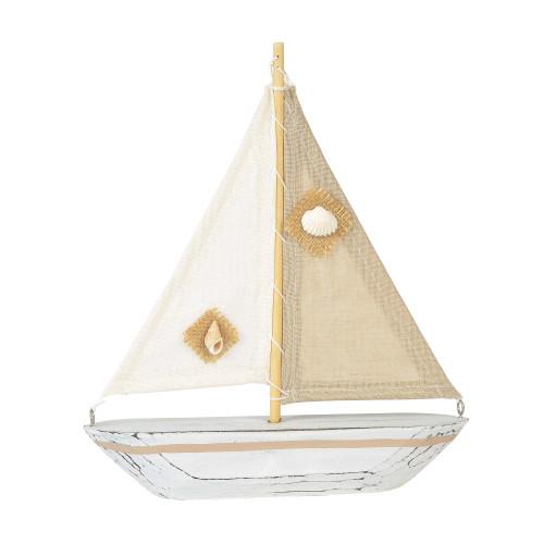 COAST Natural Sailboat Decor - 10 Inch Tall - 6001914