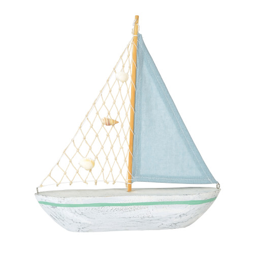 COAST Blue Sailboat Decor - 12 Inch Tall - 6001915