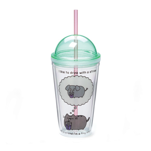 Pusheen Cat 16oz Tumbler - With Lid and Straw - 4048959