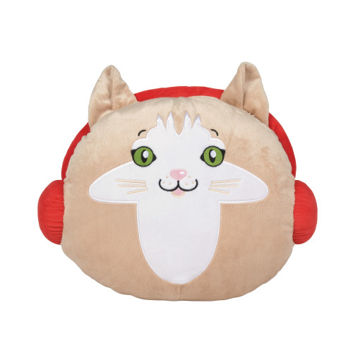 "Cat Shaped Snowpinions 15"" Wide Pillow"