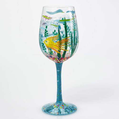 In my own World - Hand Painted Glass 15oz Wing Glass - GLS11-5543N