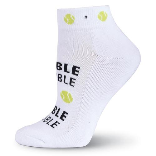 K. Bell Tennis Women's Double Trouble Ankle Socks with Rhinestones