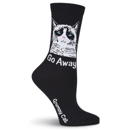 Women's Grumpy Cat Go Away Crew Socks