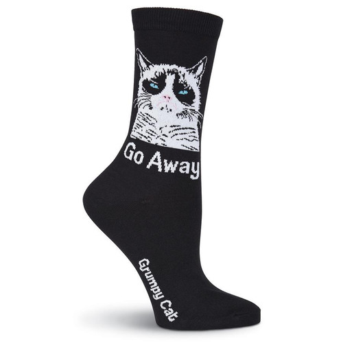 Women's Grumpy Cat Go Away Crew Socks