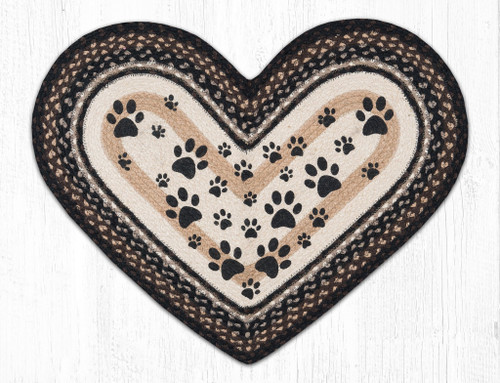 "Heart Paws Oval Patch Rug 20""x30""by Earth Rugs"