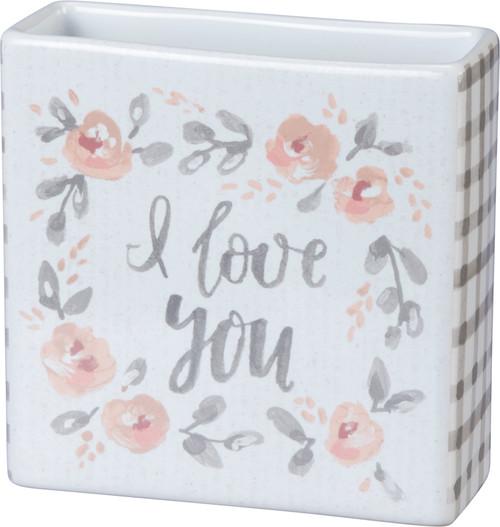 "Small Bud Vase - 4"" - I Love You"