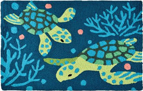 Deep Blue Sea Turtles - Floor Rug - JB-LCW021