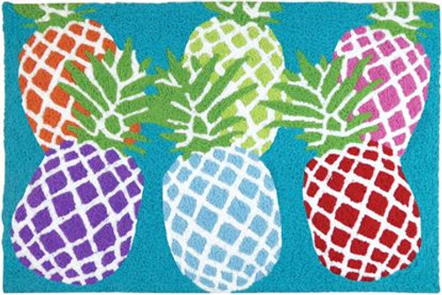 Rainbow Pineapple - 21x33 Washable Floor Rug - JB-HC085