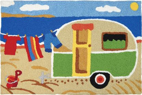 Camping at the Beach - 21x33 Washable Floor Rug - JB-CE038