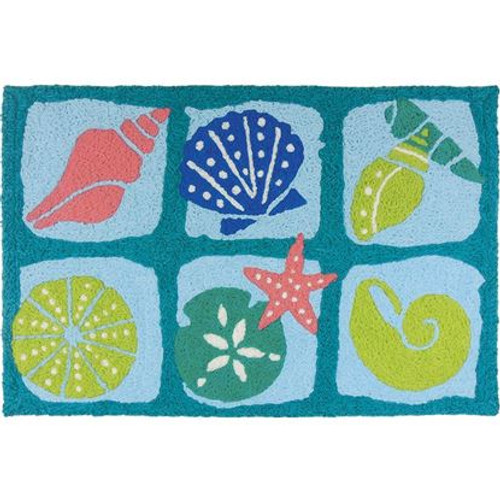 Beach Batik Surf - 21x33 Washable Floor Rug - JB-ES006