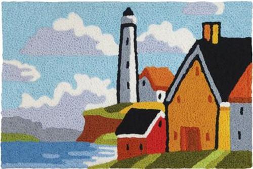 Lighthouse Bluff - 21x33 Washable Floor Rug - JB-CHB003