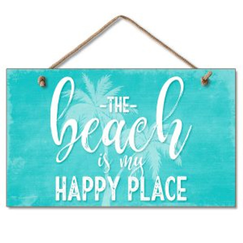 Beach Wood Sign - Beach is my Happy Place - 41-01929